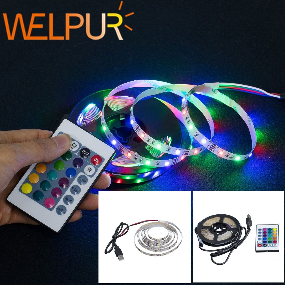 Led Strip Light Usb 2835smd Dc5v Flexible Led Lamp Tape Ribbon Rgb 0 5m 1m 2m 3m 4m 5m Tv Desktop Screen Backlight Diode Tap In 2020 Led Strip Led Strip Lighting Diode