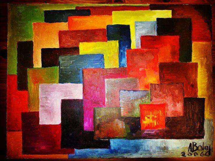 Something on the air. - Adriatik Balos - Paintings & Prints Abstract Figurative -…   ArtPal thumbnail