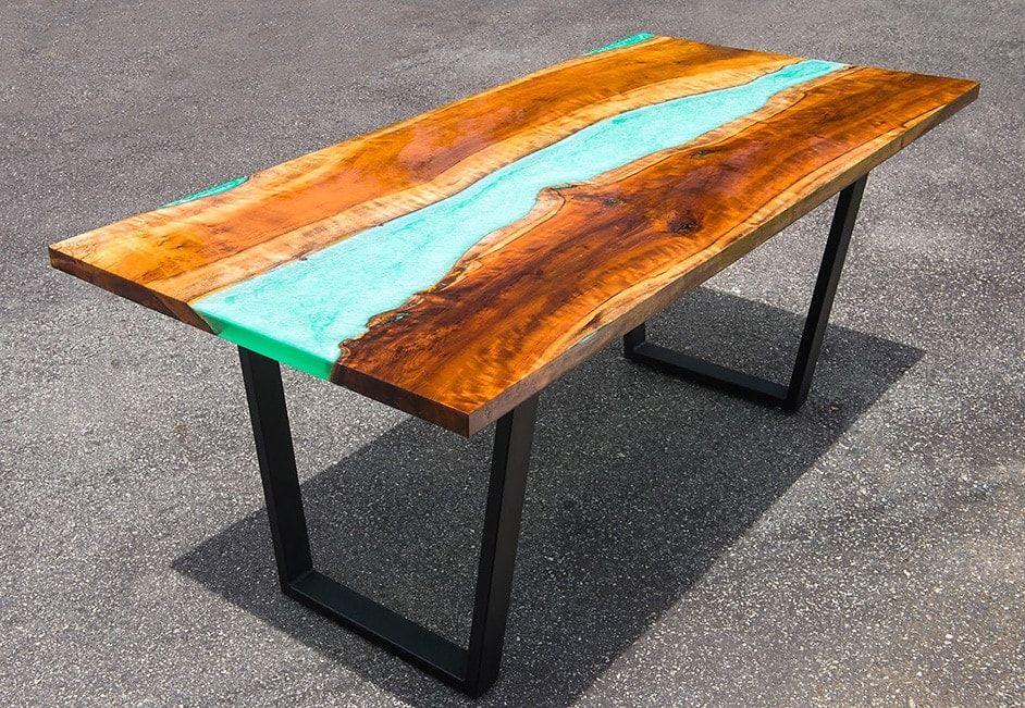 Anleitung Epoxidharz Tisch Aus Holz Selber Machen Harz Mobel