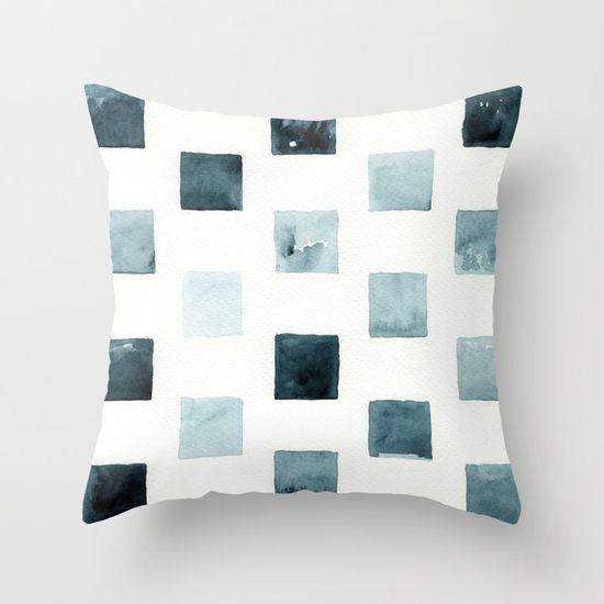 Indigo landscapes Throw Pillow