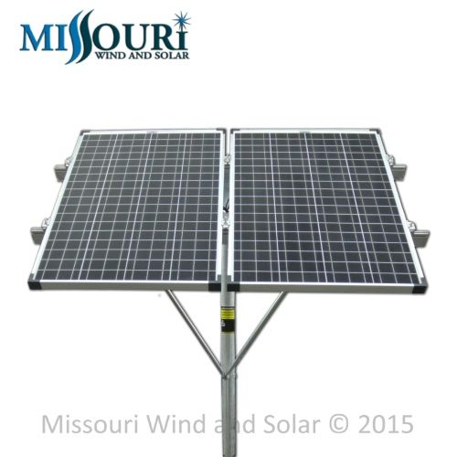 Double 100 Watt Solar Panel Top Of Pole Mounting Rack Missouri Wind And Solar 100 Watt Solar Panel Solar Best Solar Panels