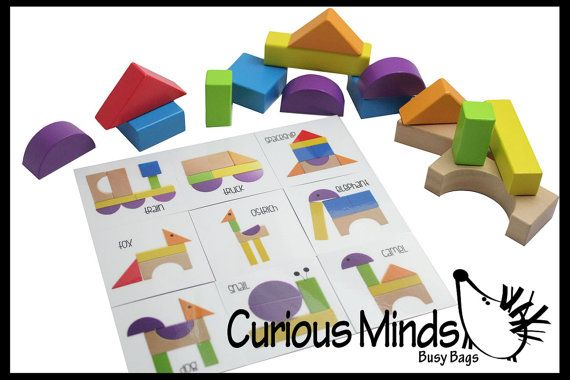 Wooden Block Patterns Create Animals And By Curiousmindsbusybags