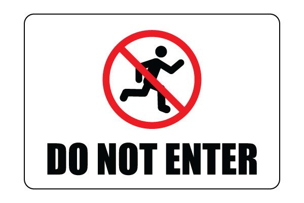 Printable Do Not Enter Sign Download Do Not Enter Signs Free Pdf