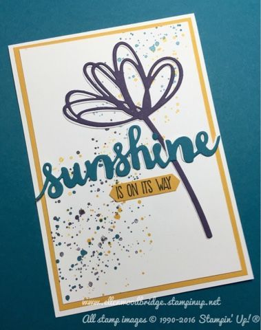 Sunshine Sayings with Sunshine Wishes Thinlits Card