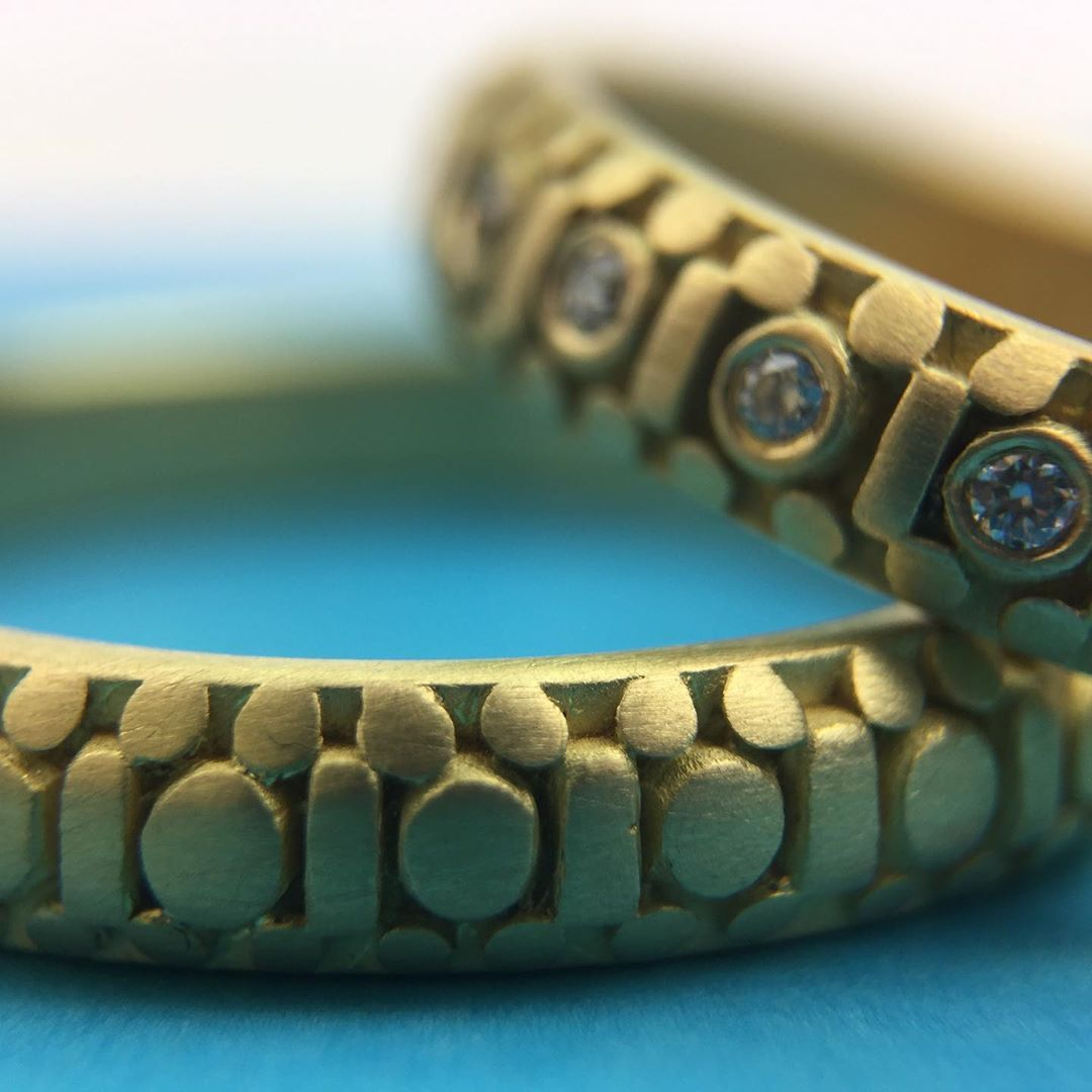 "Marian Maurer Jewelry on Instagram: ""💙 . . . #marianmaurerjewelry #handmadejewelry #finejewelry #jewelry #weddingring #weddingband #mensweddingring #alternativebridal…"""