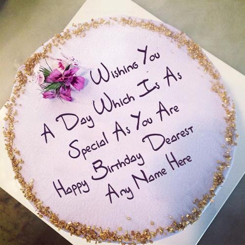 Best Wish Birthday Cake Name
