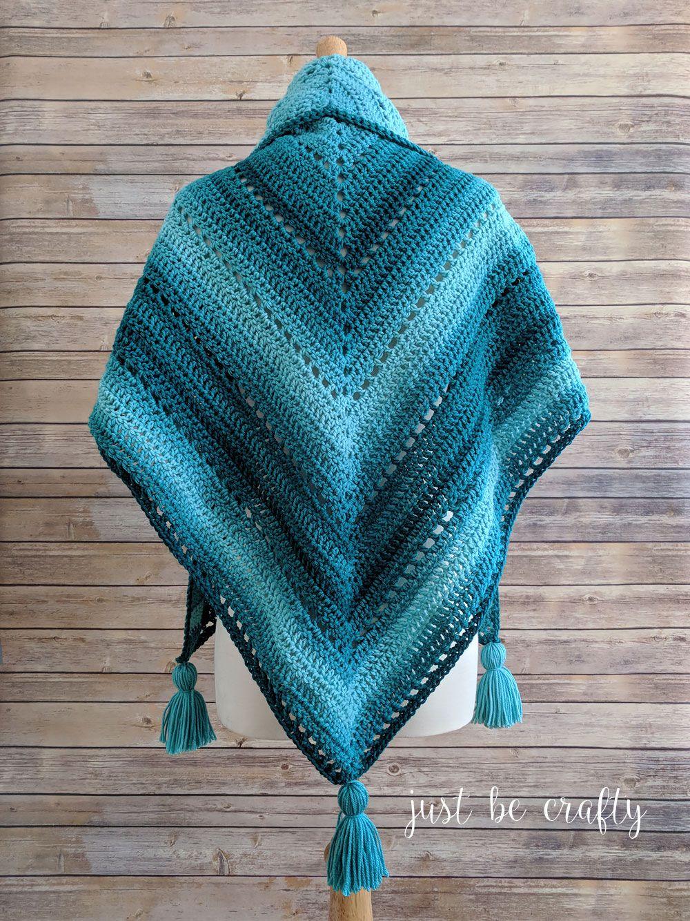 Crochet Triangle Shawl Pattern Free Crochet Pattern By Crochet