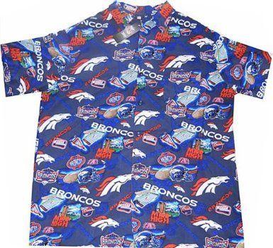 6d7e2ab2 Denver Broncos NFL Team Apparel Hawaiian Shirt Big and Tall Sizes ...