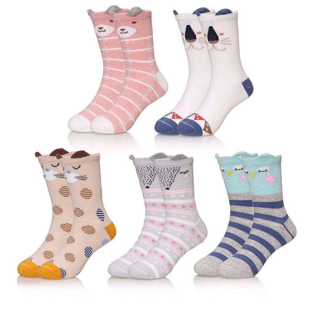 Simple Joys by Carters Baby and Toddler Girls 12-Pack Socks with Non-Skid Soles
