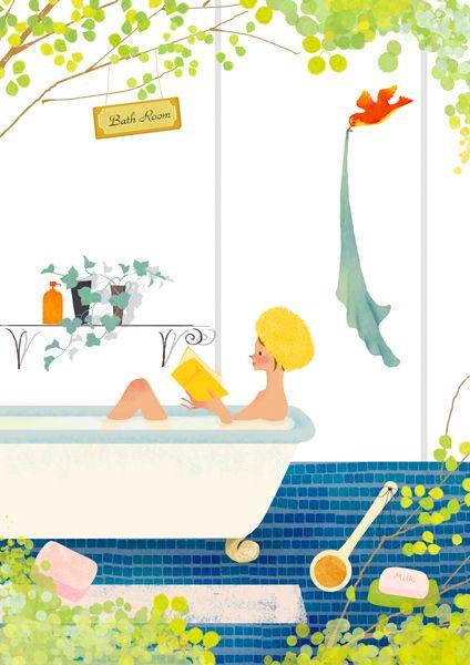 バスタイム イラスト Google 検索 仕事シャワー 入浴 シャワー