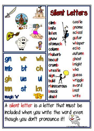 next week s spelling focus is silent letters grade 5 6 h. Black Bedroom Furniture Sets. Home Design Ideas