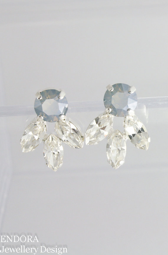 Dusty blue earringsdusty blue wedding jewelrydusty blue jewelry