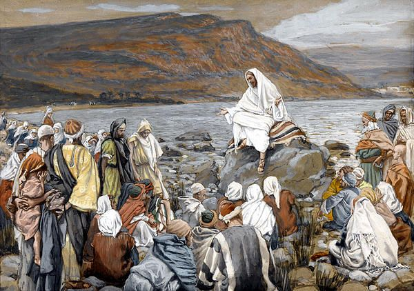 Jesus Preaching by Tissot | Jesus teachings, Bible art, Life of jesus christ