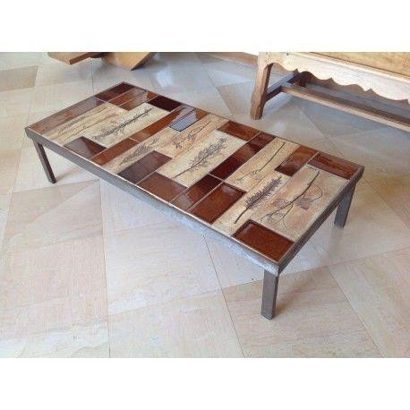roger capron table basse ceramique vintage table basse c ramique vintage roger capron. Black Bedroom Furniture Sets. Home Design Ideas