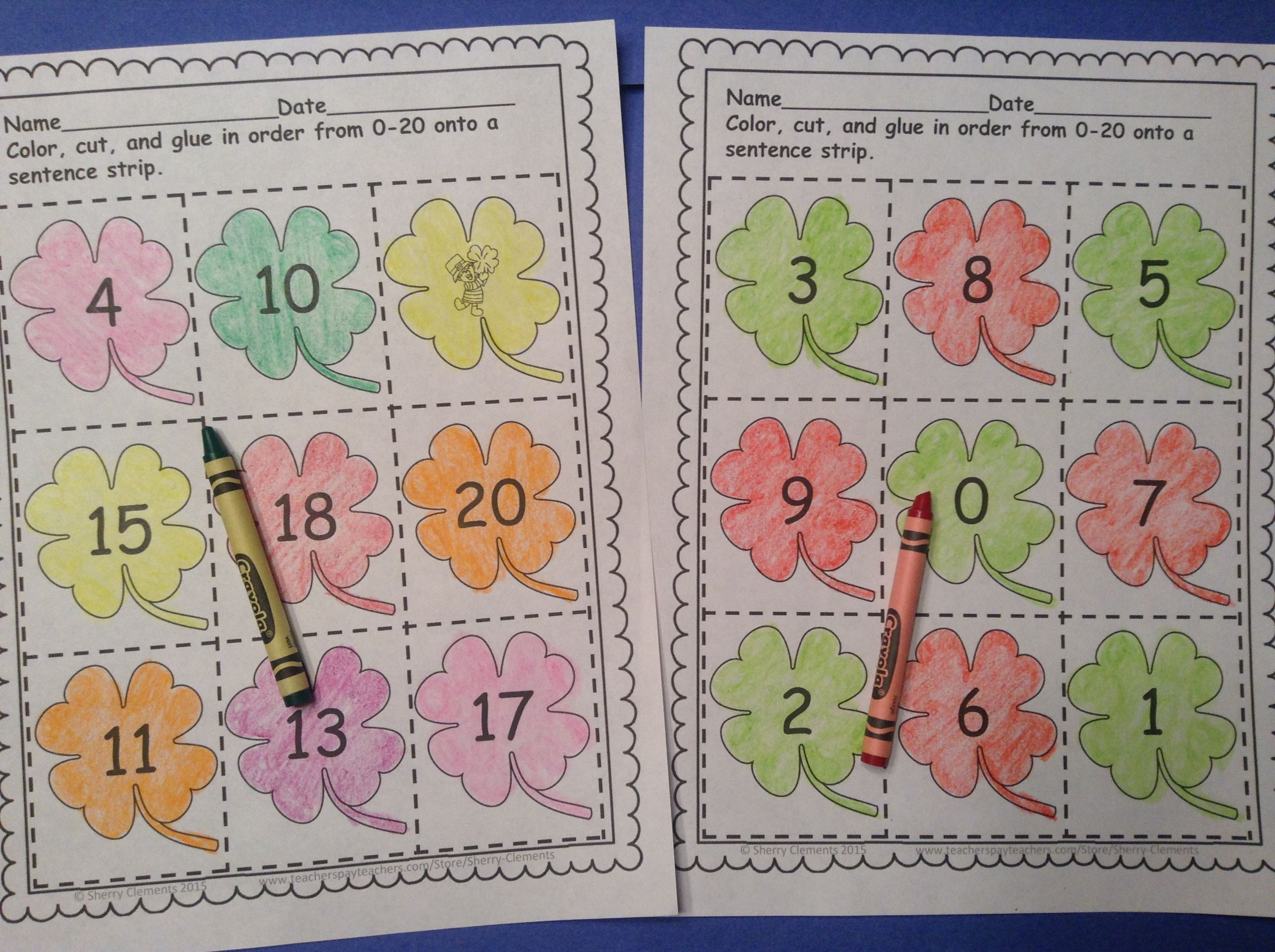 March Number Sequencing 0 20