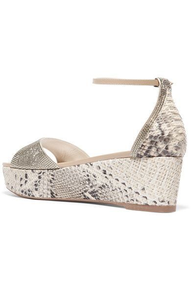 recommend cheap price discount pre order René Caovilla Rene Caovilla Embellished Python Sandals free shipping new arrival discount release dates opGrWPYk