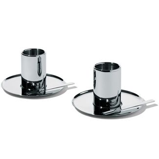 Jean Nouvel Alessi Set Of Two Mocha Cups With Saucers  Architects Gorgeous Alessi Kitchen Decorating Inspiration
