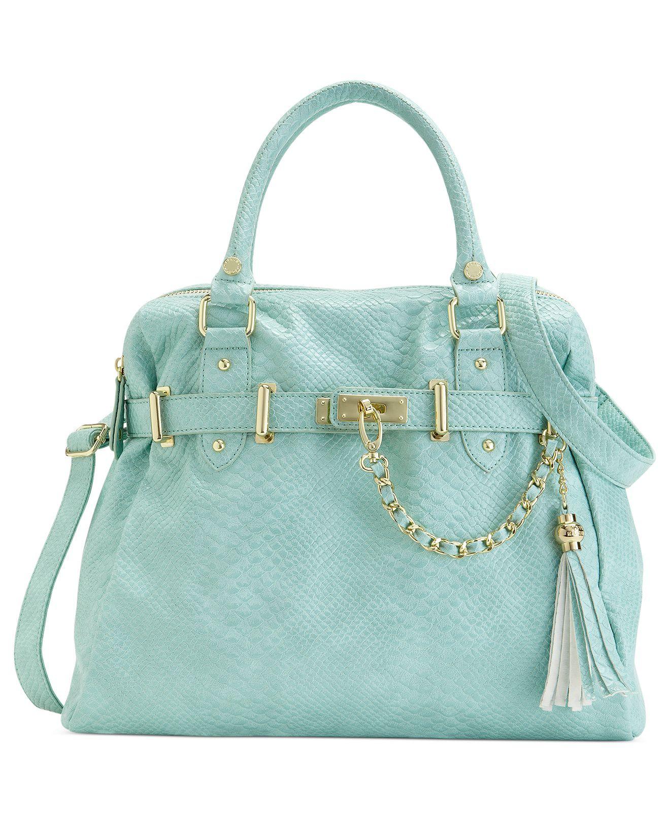 f1bcddf7535 Steve Madden Handbag, Bnancy Snake Satchel - Steve Madden - Handbags &  Accessories - Macy's