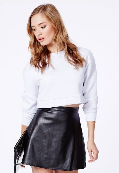 Adriane FAux Leather A-Line Skirt - Skirts - Missguided | Ireland ...