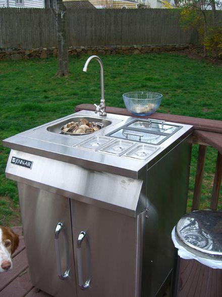Outdoor Sink And The Living S Easy Outdoor Sinks Outdoor Kitchen Outdoor Fridge