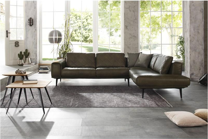 Hoekbank W Schillig.Canape Mobilier Modulaire Cuir Salon Maison Deco