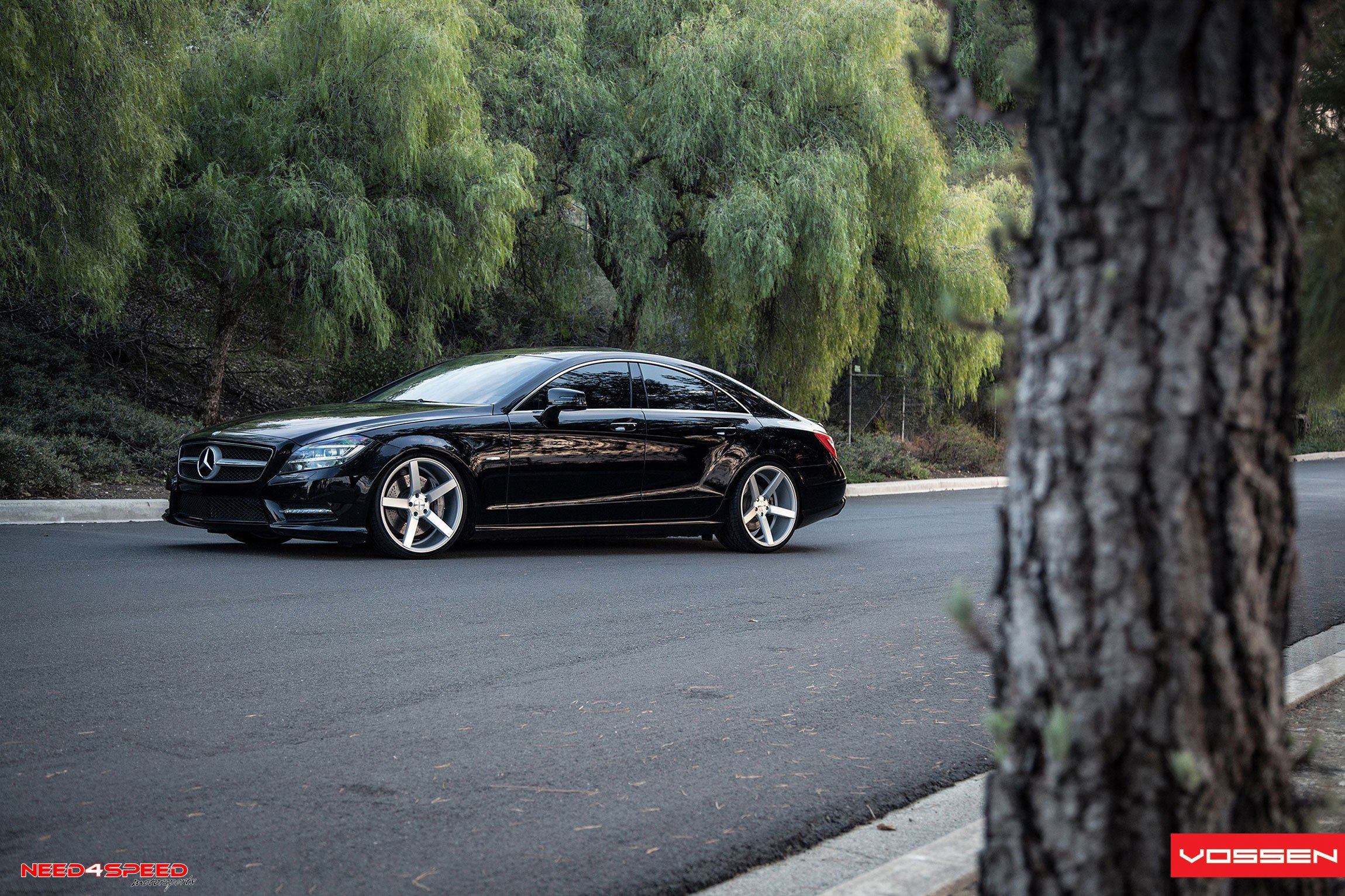 Stanced Out Mercedes Cls 550 With Sport Suspension And Vossen Rims
