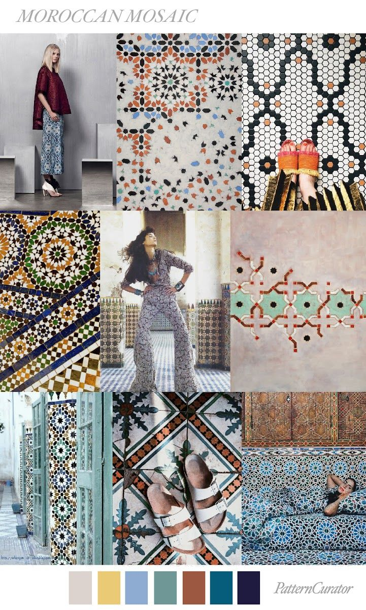 TRENDS // PATTERN CURATOR - MOROCCAN MOSAIC . FW 2018 ...