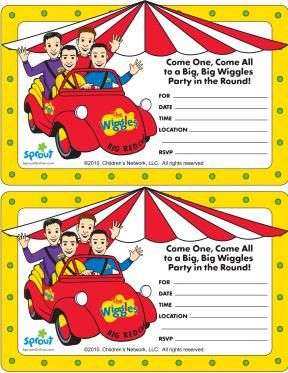 Wiggles Party Invitation