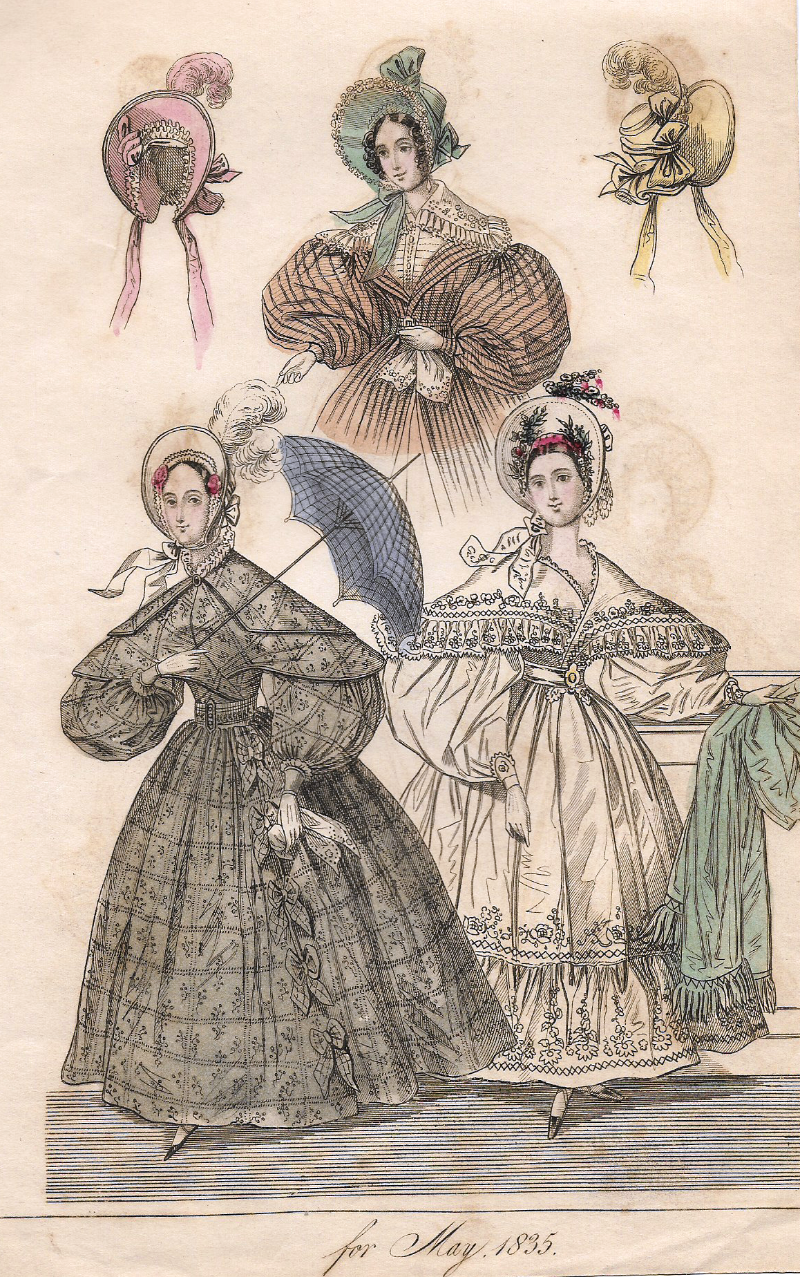 French Fashion Plate C1840 Fashions For May 1835 H C Lithograph Fashion Plates French Fashion Fashion Prints