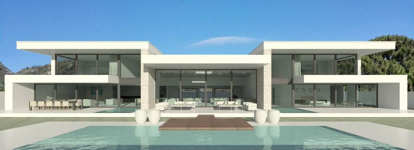 Villas modernes maisons contemporaines immobilier de luxe à vendre à marbella ibiza cannes mallorca