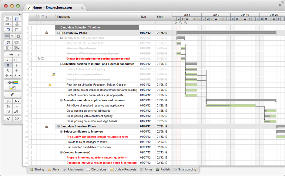 Interview Process With Gantt Timeline  Standardize Your Hiring