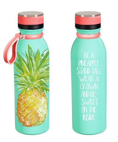 Stainless steel pineapple water bottle school for Cuartos para ninas tumbler