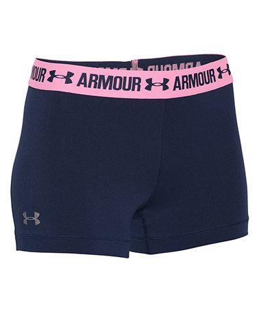Navy Seal & Pink Craze HeatGear Armour Shorty Shorts #zulily #zulilyfinds