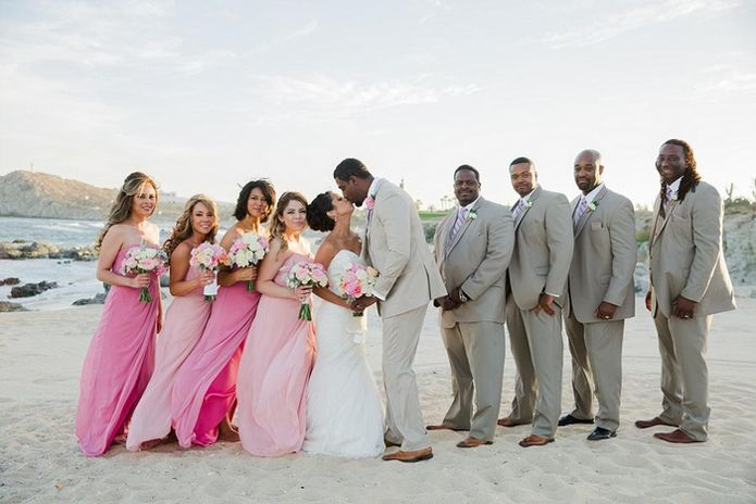 Beautiful Beach Wedding Party Attire Images - Styles & Ideas 2018 ...