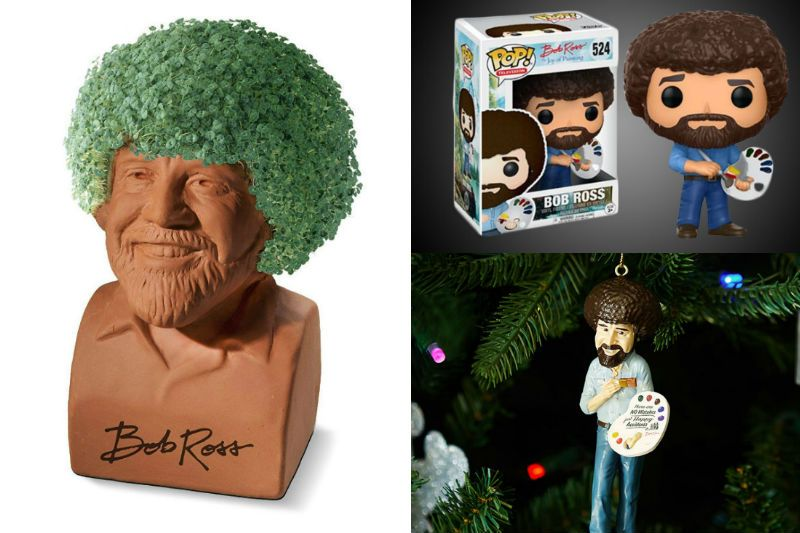 10 Happy Little Bob Ross Products That Will Brighten Up Your Day Shut Up And Take My Money Bob Ross Unusual Gifts Kids Giveaway