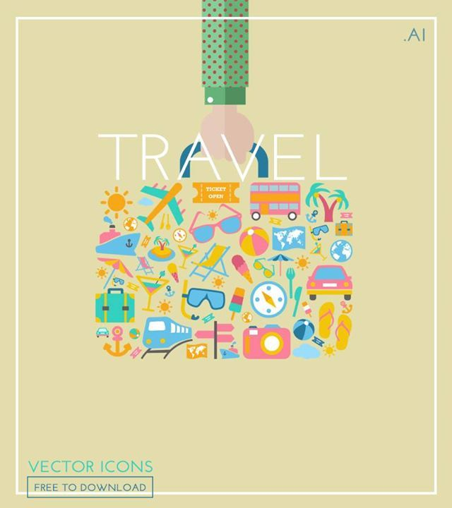 Free to Download Beautiful Travel Icons Set http://ift.tt/1P0YxFX #design #graphicdesign #webdesigner #design