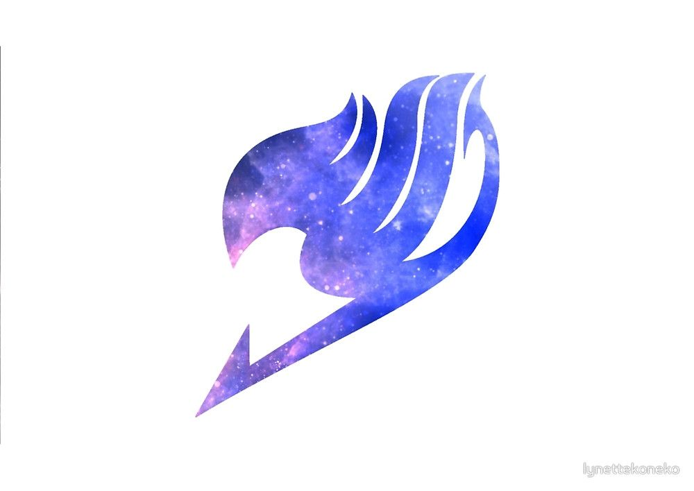 galaxy fairy tail logo design by lynettekoneko anime