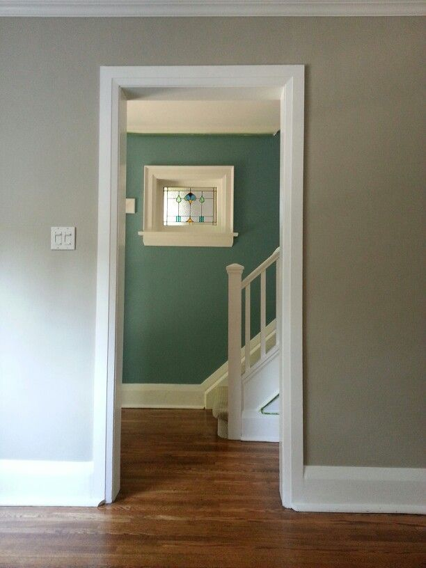 Freshly Painted Walls Living Room Painted Benjamin Moore Tyler Gray Foyer Entrance Painted