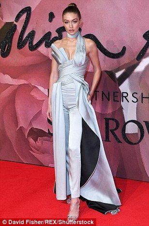 British Fashion Awards 2016: Gigi Hadid looks sensational in silver | Daily Mail Online