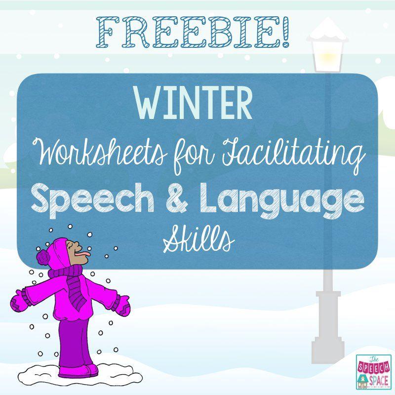 Winter Worksheets For Speech Language Speech And Language Winter Speech Therapy Language Therapy Activities