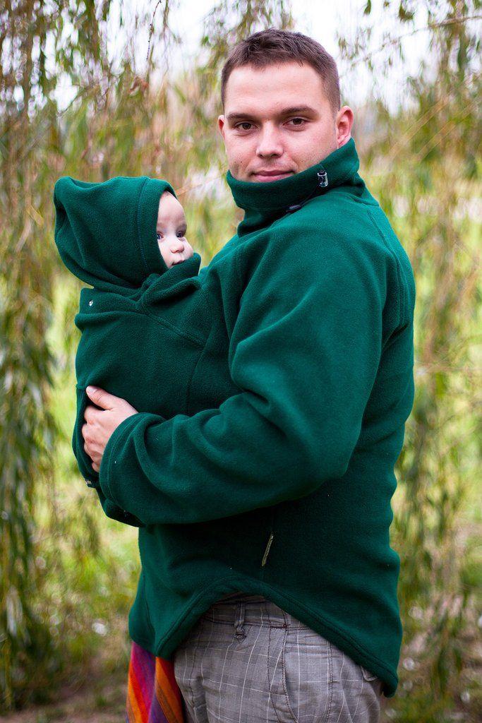 ca0eee99f Lenny Lamb Babywearing Jacket Dark Green Fleece