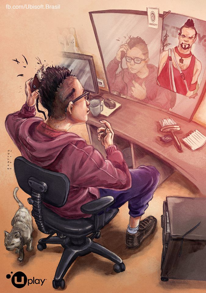 Vaas Far Cry 3 By Santtos Portfolio On Deviantart In 2020 Crying Cartoon Art Far Cry 3