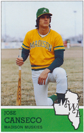Jose Canseco Baseball Card Sports Jose Canseco Baseball