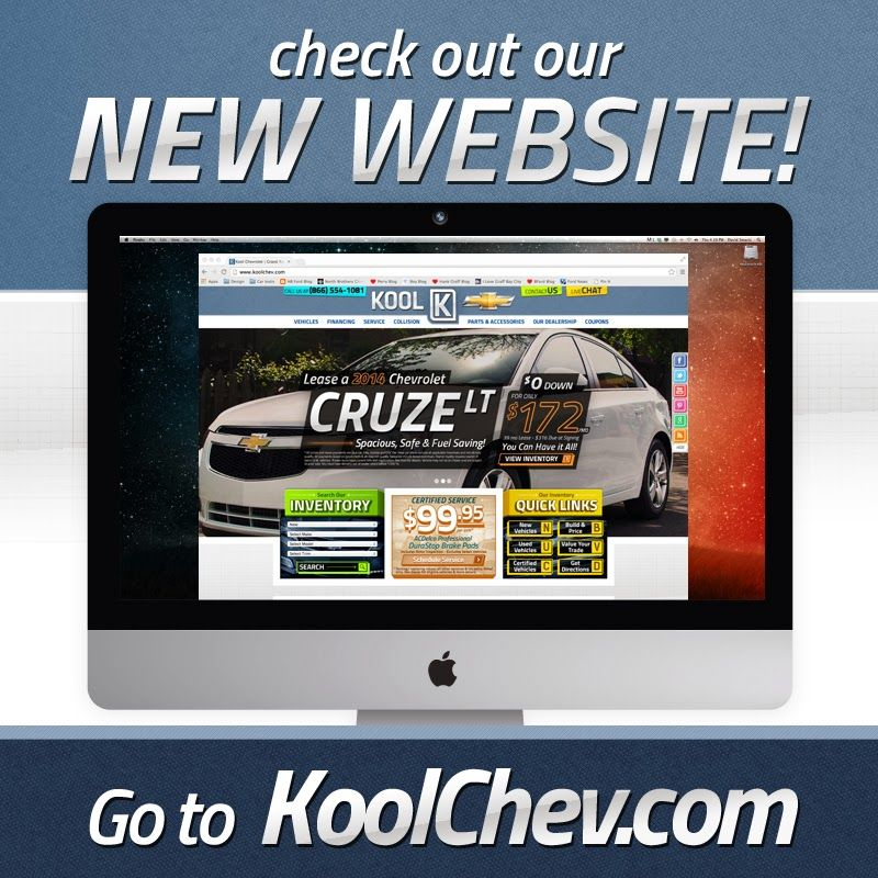 NEW Kool Chevrolet Website is Up and Running | Kool Chevrolet Blog Chevrolet Website on subaru website, toyota website, jaguar website, polaris website, honda website, volkswagen website, land rover website, jeep website, aston martin website, ford website, dodge website, porsche website, kia website, cadillac website, john deere website, bmw website, gmc website, nissan website, lexus website, tesla website,