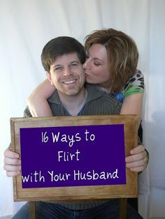 "From the original pinner: ""Last year, I made a commitment to flirt with my husband every single day... and it's revolutionized our marriage. I dare you to try it. Here are some great ideas to help you get started."" haha these are fun to read :)"