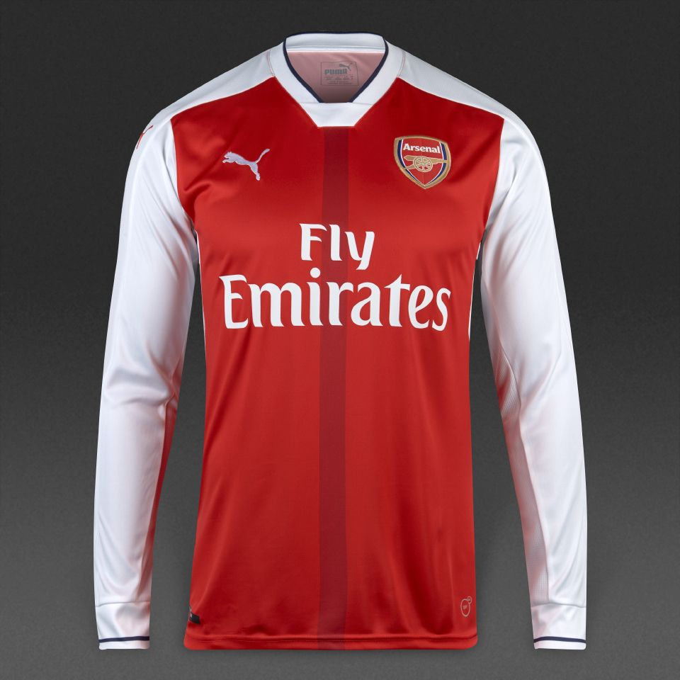 db5610f33b4 Arsenal 1415 LS Home Soccer Jersey Arsenal Home Men Long Sleeve Soccer  Jersey Personalized Name and Number ...