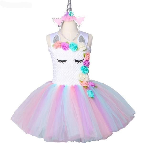 daec2afee0edd Unicorn tutu Dress Pastel Rainbow Princess Girls in 2019 | Siani's ...