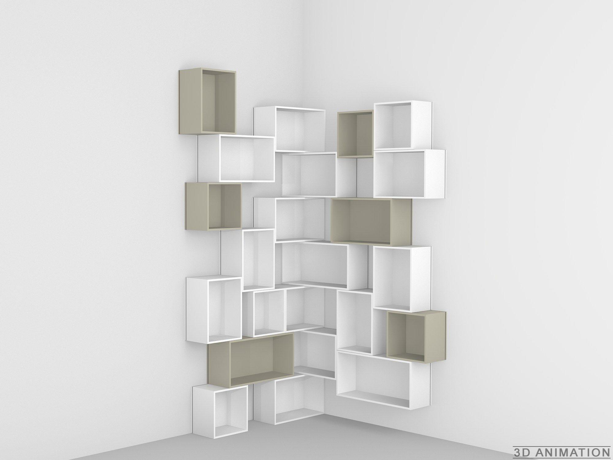 Modulares Bucherregal By Cubit By Mymito Design Cubit Regal Regal Design Eckregal Wohnzimmer