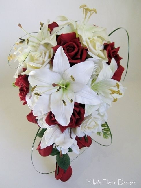 Ideal Bouquet Lily Wedding Bridal Bouquets Artificial