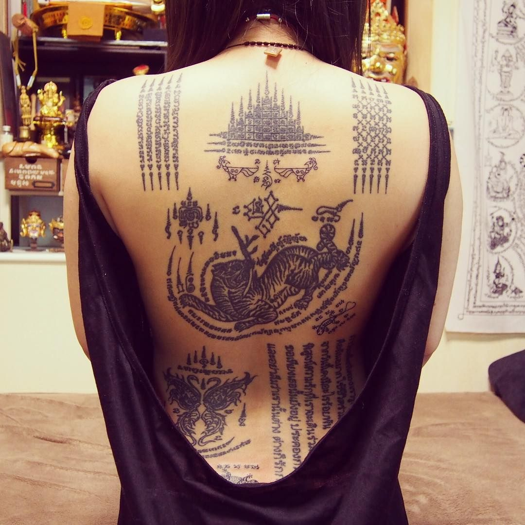 TATTOO SAK YANT IN CAMBODIA - BeatTattoo.com - Ink People, Sketches Tattoo, Inked Women, Design Sleeve Tattoo, Sak Yant Magic Tattoo